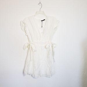 NWT Zara White Peplum